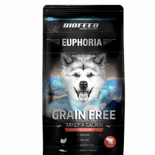 BIOFEED Euphoria Junior Dog GRAIN FREE - Turkey&Salmon 300g